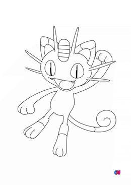 Coloriage Pokémon - 52 - Miaouss