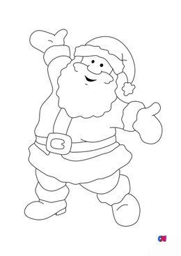 Coloriage de Noël - Père Noël 2