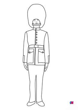 Coloriages de chevalier - Garde royal anglais