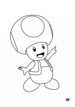 Coloriage Mario - Toad