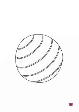 Mes premiers coloriages - Un ballon de plage