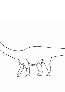 Coloriage de dinosaures - Diplodocus