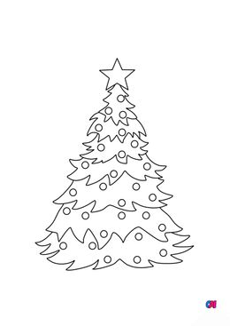 Coloriage de Noël - Sapin de Noël 2