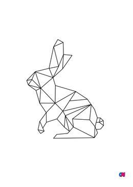 Coloriage Animaux géométriques - Lapin 2