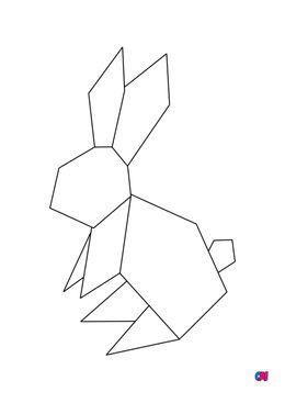 Coloriage Animaux géométriques - Lapin