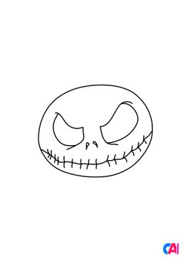 Coloriages Halloween - Crâne