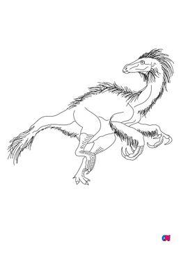Coloriage de dinosaures - Beipiaosaurus