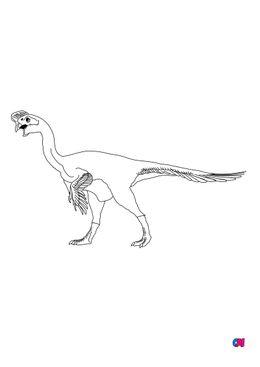 Coloriage de dinosaures - Citipati