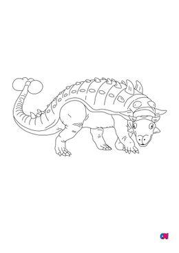 Coloriage de dinosaures - Euoplocephalus