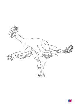 Coloriage de dinosaures - Gigantoraptor