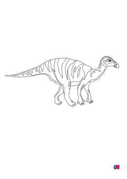 Coloriage de dinosaures - Iguanodon
