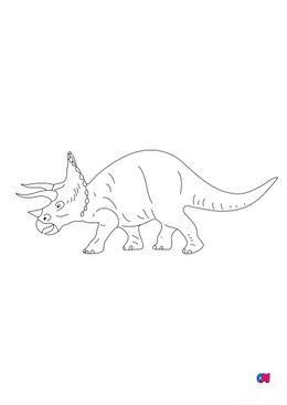 Coloriage de dinosaures - Triceratops