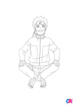 Coloriage Naruto - Naruto 6