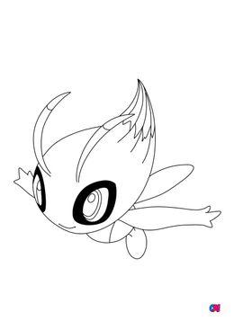 Coloriage Pokémon - 251 - Celebi