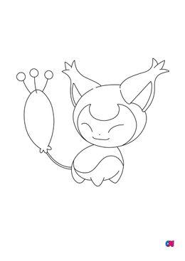 Coloriage Pokémon - 300 - Skitty