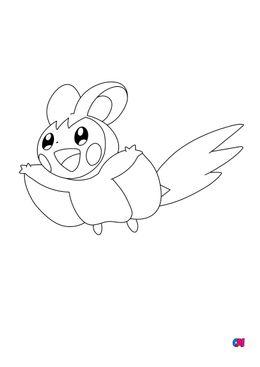Coloriage Pokémon - 587 - Emogla