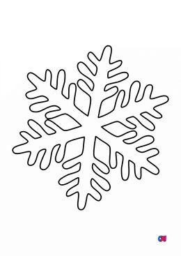 Coloriage de Noël - Flocon de neige 4