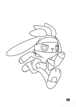 Coloriage Pokémon - 814 - Lapyro