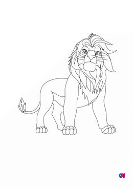 Coloriage Roi Lion - le roi Mufasa