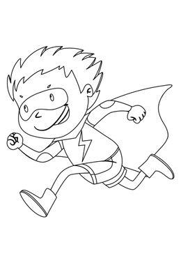Coloriage de supers héros - Super petiteflash