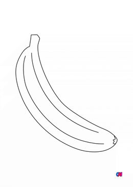 Mes premiers coloriages - Une banane