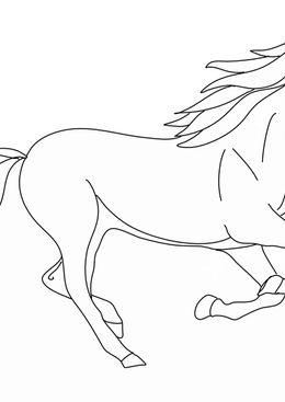 Coloriage Goldorak - Cheval au galop
