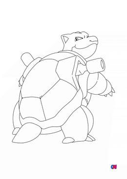 Coloriage Pokémon - 9 - Tortank