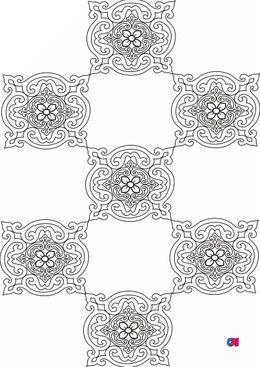 Coloriage art thérapie - Arabesque 3