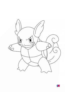 Coloriage Pokémon - 8 - Carabaffe