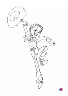 Coloriage Toy Story 4 - Jessie est contente