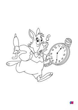 Coloriage Alice au pays des merveilles - Le lapin blanc