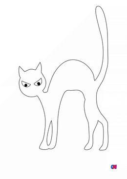 Coloriages Halloween - Chat