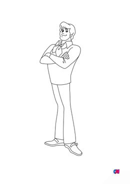 Coloriage Scooby-doo - Fred
