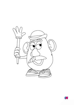Coloriage Toy Story 4 - Monsieur Patate 2