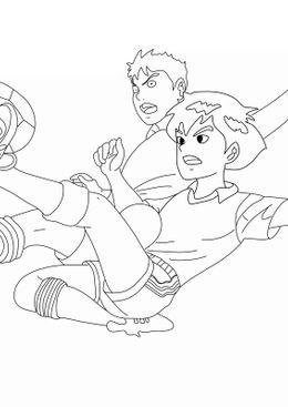 Coloriage Football - L'école des champions tacle