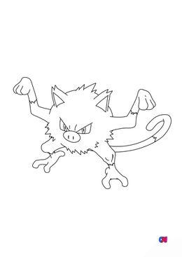Coloriage Pokémon - 56 - Férosinge