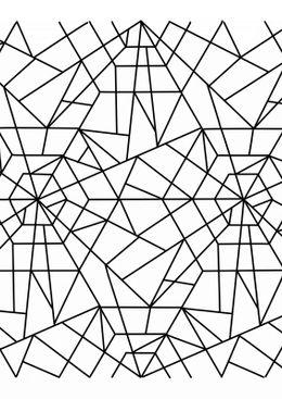 Coloriage art thérapie - kaleidoscope 2