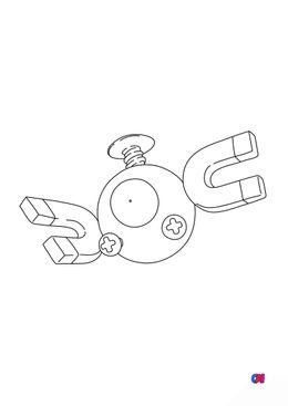 Coloriage Pokémon - 81 - Magnéti